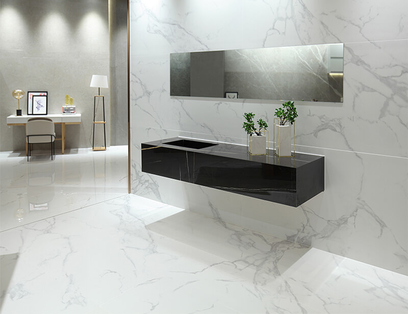 White Porcelain Floor Wall Tiles