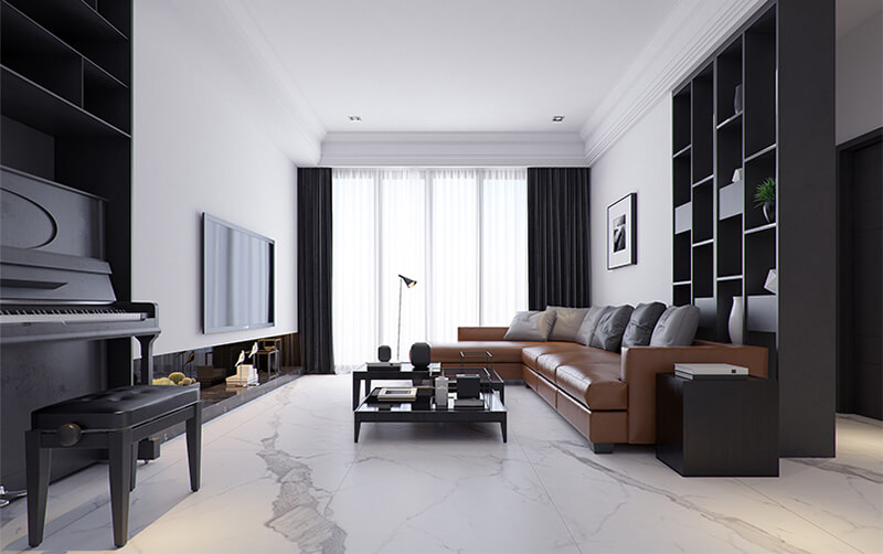 Carrara Marble Porcelain Floor Wall Tiles