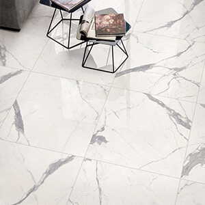 Honed  Carrara Marble Porcelain Floor Tile