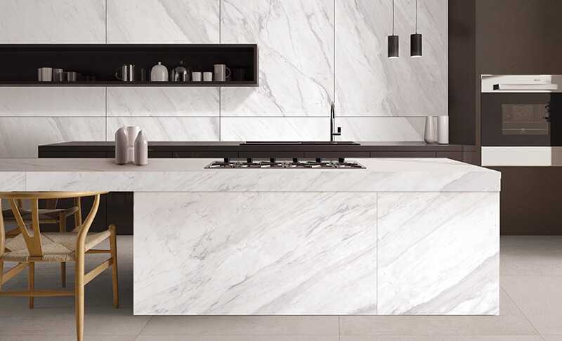 Carrara Ceramic Floor Porcelain Marble Tile