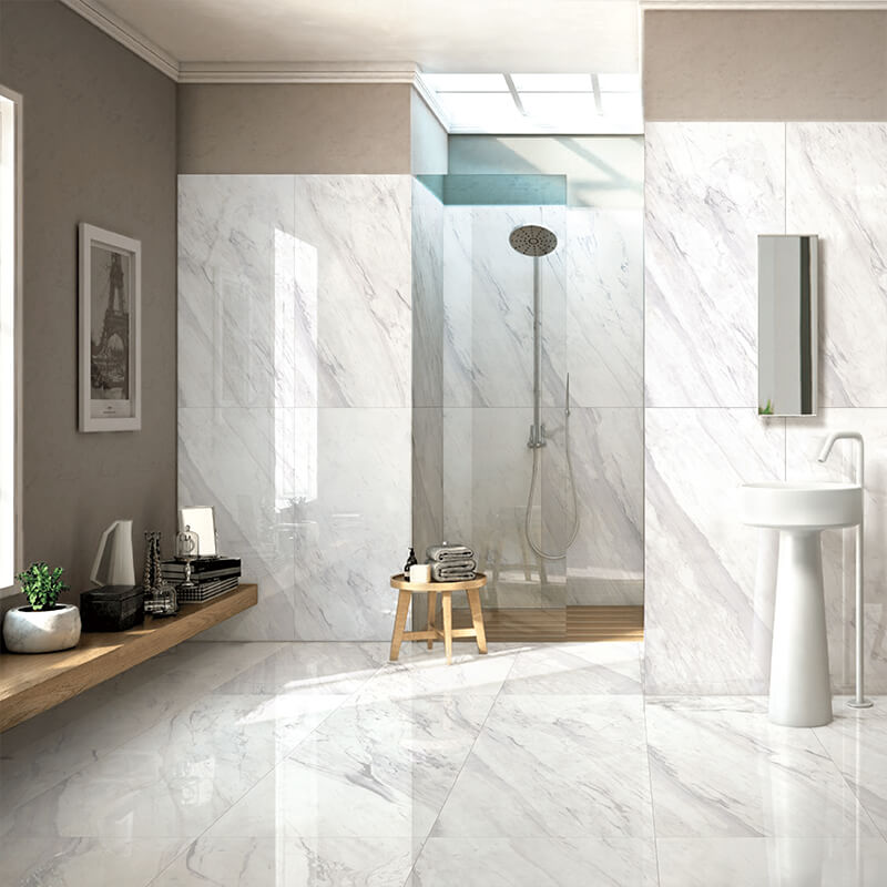 Carrara Ceramic Floor Porcelain Marble Tile Supplier