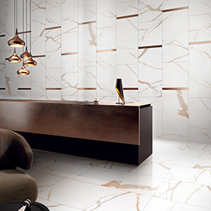 Calacatta White Gold Polished Porcelain Tile