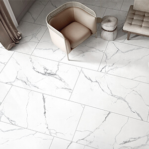 China White Bianco Carrara Porcelain Tile