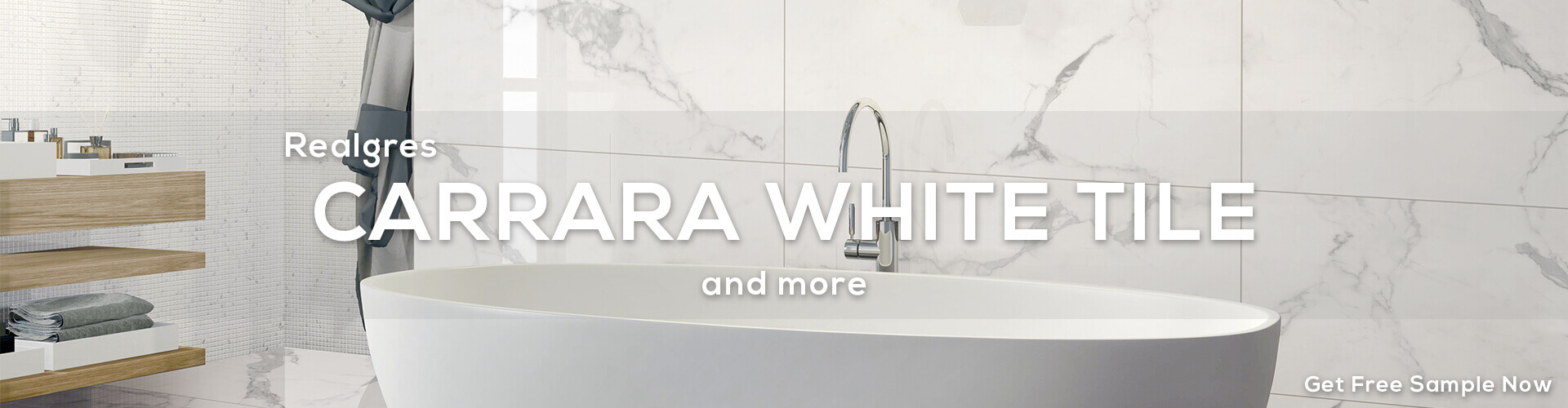 CARRARA White Tiles