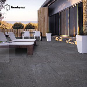 2cm Quality Black Outdoor Patio Tile Floor